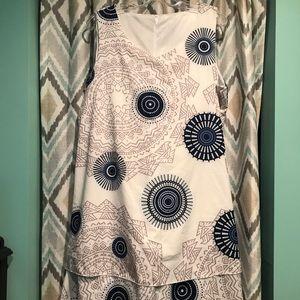 Brand New Womans Dress. Layered Sleeveless Blue